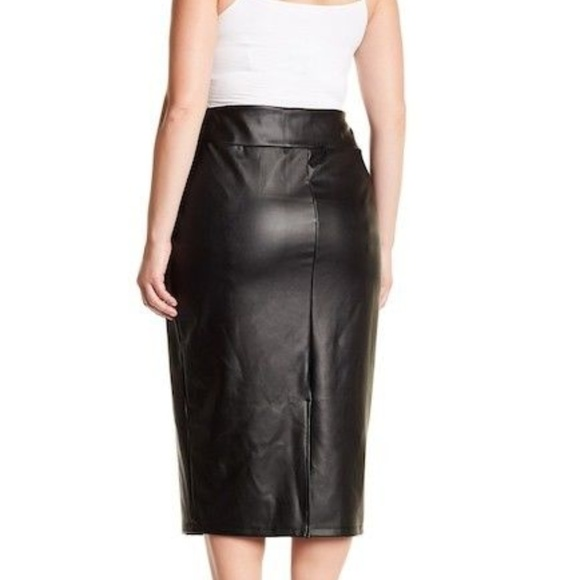 reputable site release info on discount collection Nordstrom Skirt NEW Faux Leather Pencil Midi Black
